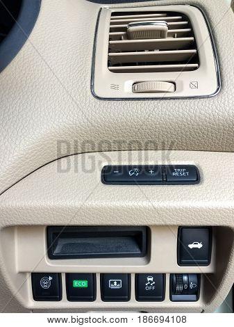 Car interior design ,Car detail , part of car