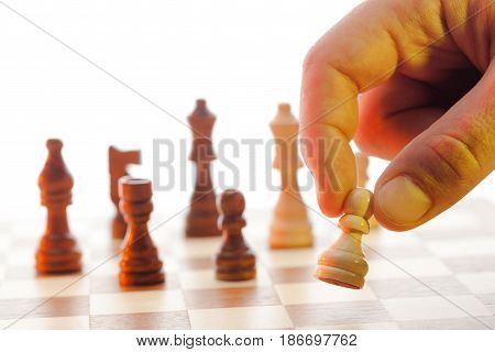 Chess strategy chess board chessboard rivalry isolated battlefield