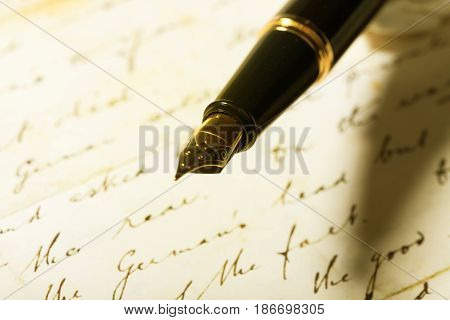 Book writing old letter pen antique ancient