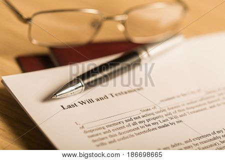 Will law document last will planning testament legal document