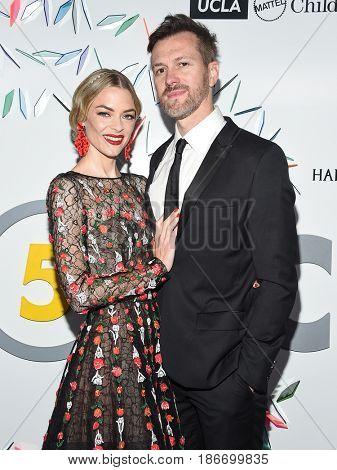 LOS ANGELES - MAY 06:  Jaime King and Kyle Newman arrives for the Kaleidoscope 5 on May 6, 2017 in Culver City, CA