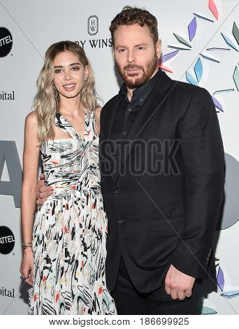 LOS ANGELES - MAY 06:  Sean Parker and Alexandra Lenas arrives for the Kaleidoscope 5 on May 6, 2017 in Culver City, CA