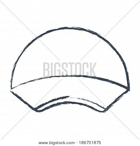 monochrome blurred silhouette with delivery cap vector illustration