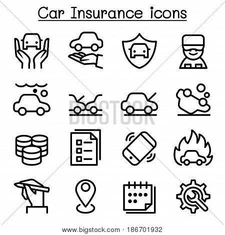 Car Insurance Icon Vector Photo Free Trial