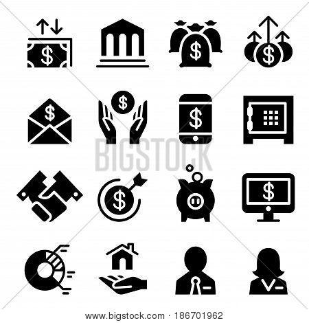 Business & Financial icon set  vector illustration graphic design