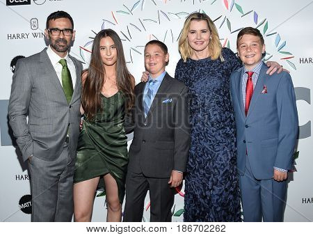 LOS ANGELES - MAY 06:  Geena Davis, Reza Jarrahy, Kaiis Jarrahy, Kian Jarrahy and Alizeh Jarrahy arrives for the Kaleidoscope 5 on May 6, 2017 in Culver City, CA