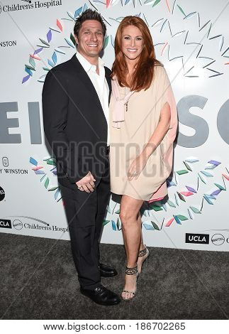LOS ANGELES - MAY 06:  Angie Everhart and Carl Ferro arrives for the Kaleidoscope 5 on May 6, 2017 in Culver City, CA