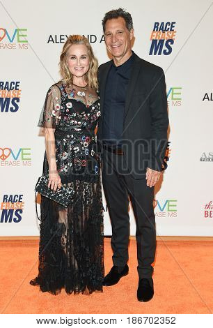 LOS ANGELES - MAY 05:  Maureen McCormick and Michael Cummings arrives for the Race To Erase MS Gala 2017 on May 5, 2017 in Beverly Hills, CA