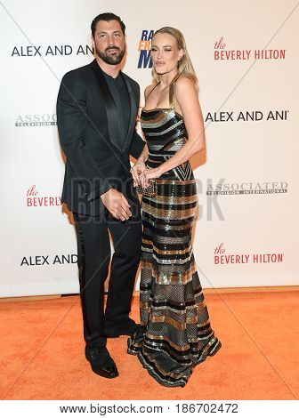 LOS ANGELES - MAY 05:  Maksim Chmerkovskiy and Peta Murgatroyd arrives for the Race To Erase MS Gala 2017 on May 5, 2017 in Beverly Hills, CA