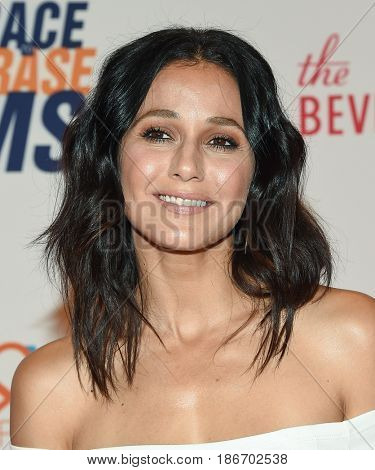 LOS ANGELES - MAY 05:  Emmanuelle Chriqui arrives for the Race To Erase MS Gala 2017 on May 5, 2017 in Beverly Hills, CA