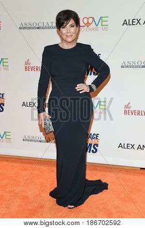 LOS ANGELES - MAY 05:  Kris Jenner arrives for the Race To Erase MS Gala 2017 on May 5, 2017 in Beverly Hills, CA