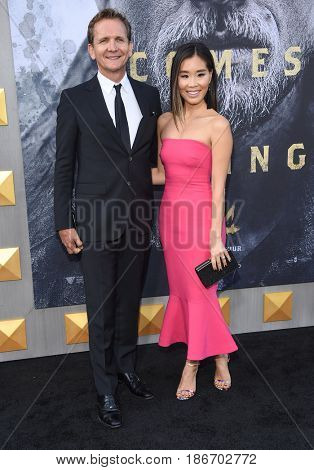 """LOS ANGELES - MAY 08:  Sebastian Roche and Alicia Hannah arrives for the 'King Arthur: Legend Of The Sword"""" World Premiere on May 8, 2017 in Hollywood, CA"""
