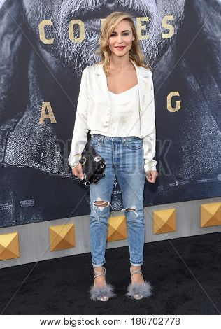 LOS ANGELES - MAY 08:  Samaire Armstrong arrives for the 'King Arthur: Legend Of The Sword