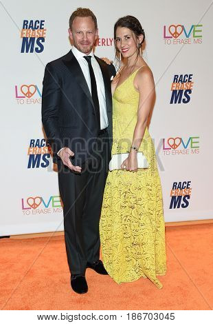 LOS ANGELES - MAY 05:  Ian Ziering and Erin Ludwig arrives for the Race To Erase MS Gala 2017 on May 5, 2017 in Beverly Hills, CA