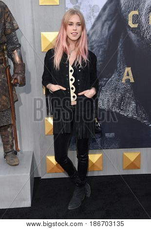 "LOS ANGELES - MAY 08:  Mary Charteris arrives for the 'King Arthur: Legend Of The Sword"" World Premiere on May 8, 2017 in Hollywood, CA"