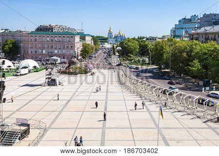 View Of St Sophia Square In Kiev City