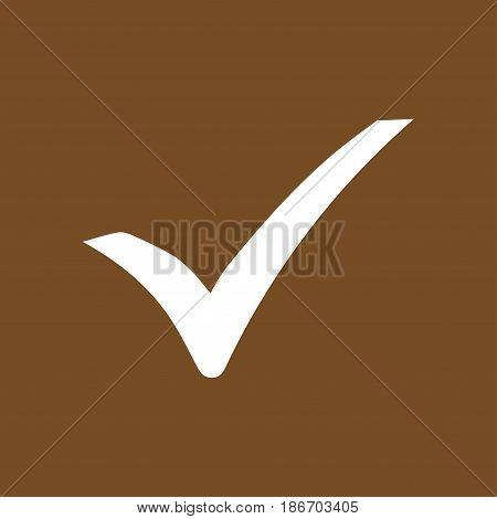 Check mark icon. Flat design style. Vector.