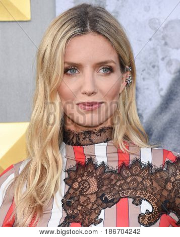 LOS ANGELES - MAY 08:  Annabelle Wallis arrives for the 'King Arthur: Legend Of The Sword