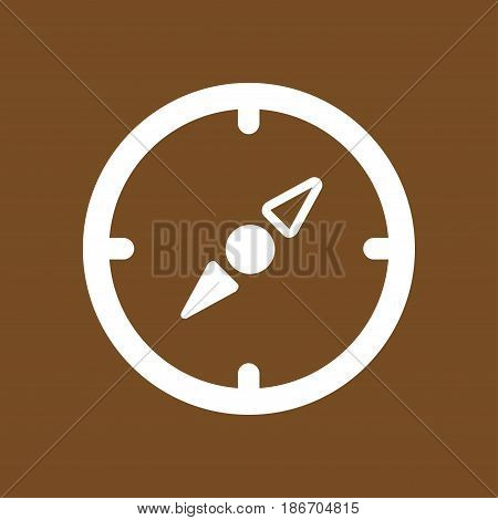 Vector compass icon. Orientation in the locality. Flat design style.