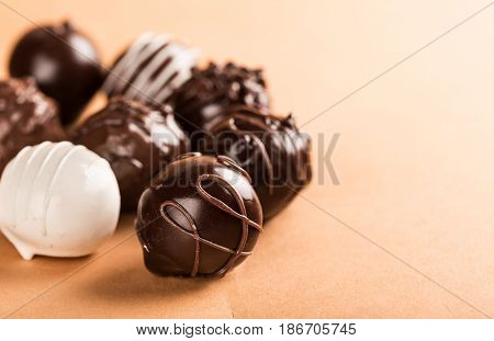 Chocolate candy isolated snack milk chocolate bonbon chocolate candy