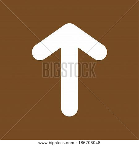 Arrow icon. Pointer direction for land navigation.