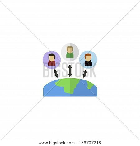 Flat Outsource Element. Vector Illustration Of Flat Administration  Isolated On Clean Background. Can Be Used As Administration, Manager And Leader Symbols.