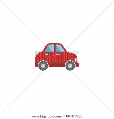 Flat Automobile Element. Vector Illustration Of Flat Car Isolated On Clean Background. Can Be Used As Car, Vehicle And Automobile Symbols.