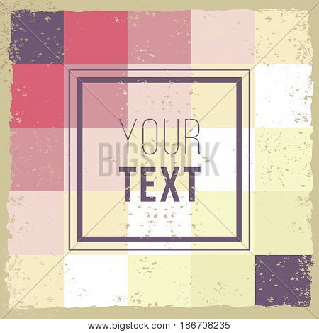 Abstract Background retro mosaic brochure or banner. Vintage creative cards. Hipster textures. Retro patterns for Posters, Flayers and Banner Designs. Template