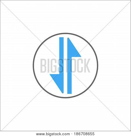 exchange solid icon, mobile internet and 3g, vector graphics, a colorful linear pattern on a white background, eps 10.