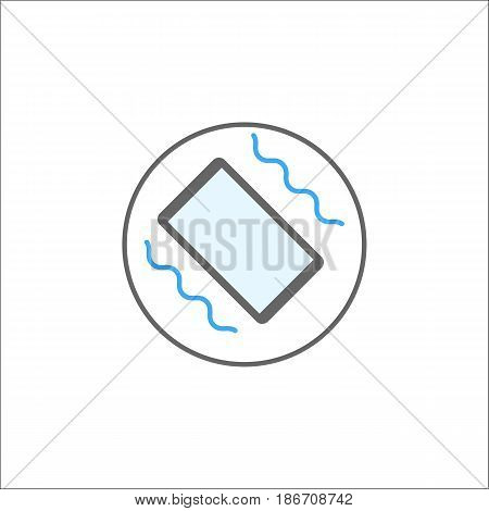 Phone vibration solid icon, mobile sign and smartphone, vector graphics, a colorful linear pattern on a white background, eps 10.