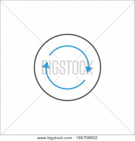 Synchronization solid icon, mobile sign and app, vector graphics, a colorful linear pattern on a white background, eps 10.