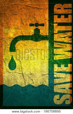 Abstract background. Water conservation concept. Ecology Saving. Grunge texture