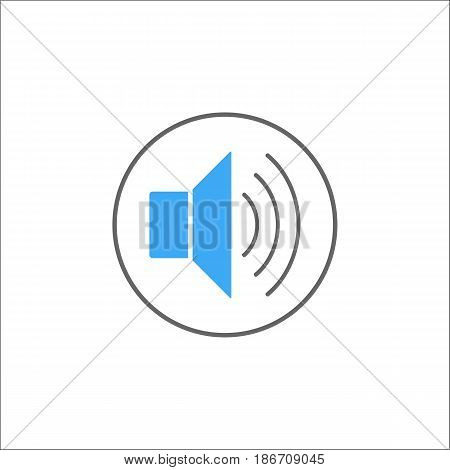 Sound mode solid icon, mobile sign and loud, vector graphics, a colorful linear pattern on a white background, eps 10.