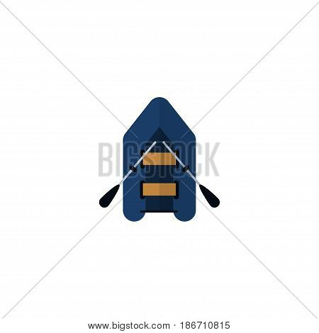 Flat Rubber Boat Element. Vector Illustration Of Flat Ship Isolated On Clean Background. Can Be Used As Ship, Rubber And Boat Symbols.
