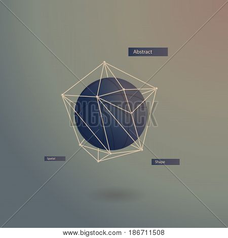 abstract volumetric sphere in a polygonal data grid