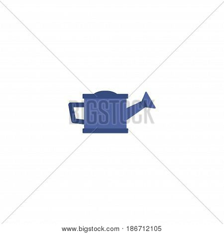 Flat Bailer Element. Vector Illustration Of Flat Watering Can Isolated On Clean Background. Can Be Used As Watering, Can And Bailer Symbols.