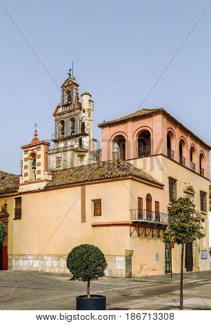 The Church of San Francisco (Iglesia de San Francisco) stands on Plaza de Espana (Spain square) Ecija Spain
