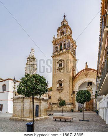 Santa Maria Church in historical center of Ecija Spain