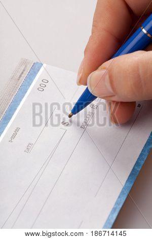 Check finance chequebook cheque pen bank check paying check