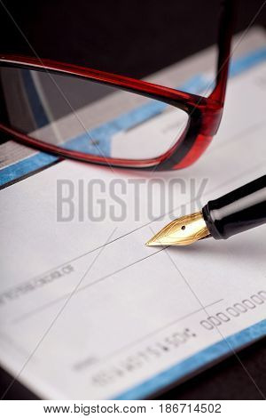 Check cheque pen bank check paying check check payment blank check