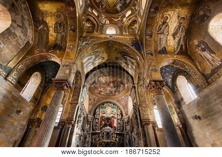 Palermo, Italy - October 14, 2009: Presbytery Of Romanic Church San Cataldo