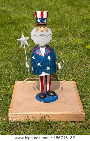 An Uncle Sam decoration for the Fourth of July holiday
