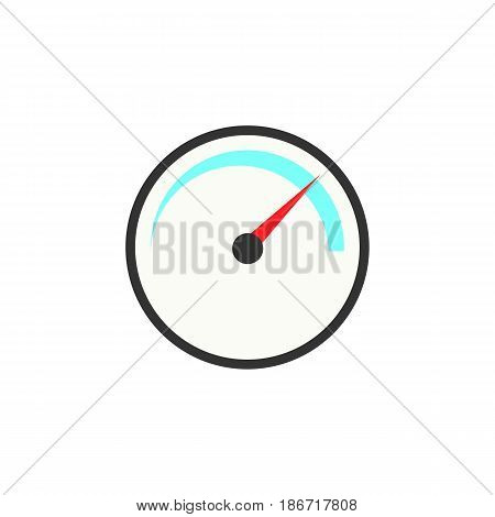 Speedometer solid icon, navigation and Tachometer, vector graphics, a colorful flat pattern on a white background, eps 10.