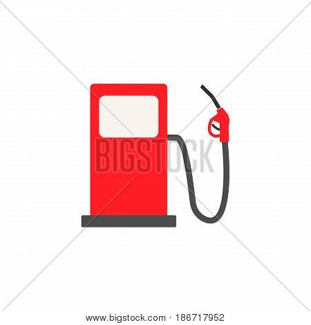 Gas station solid icon, fuel and refill sign, vector graphics, a colorful flat pattern on a white background, eps 10.