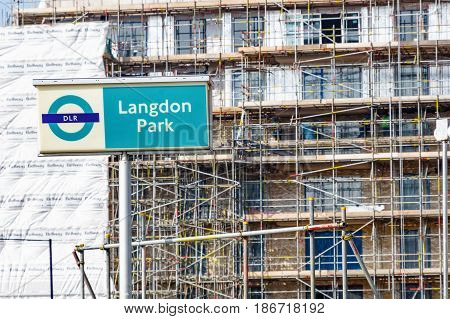 Langdon Park Sign And Construction Site
