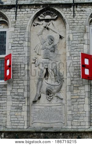 War Monument On The Town-hall