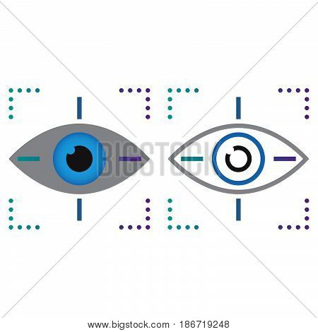 Eye Tracking Line Icon, Outline And Solid Vector Sign, Linear And Full Pictogram Isolated On White,