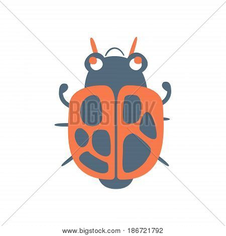 Bed bug soldier cartoon colorful character vector Illustration isolated on a white background