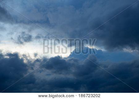 Rainclouds in rainy season black cloud thailand