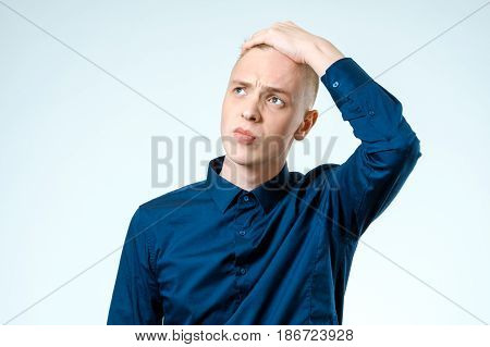 Portrait Of Stressed Young Man Isolated
